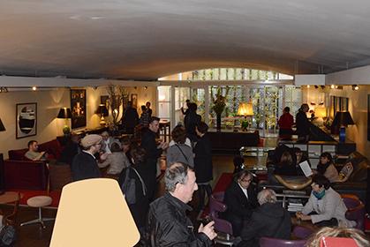 Le salon Panthéon décoré par Catherine Deneuve accueille l'exposition d'Alain Cornu.