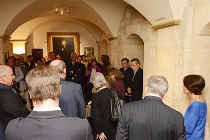 Emmanuel Pierrat a présenté l'exposition qui a permis de réunir des documents épars avec le soutien de la société des Amis du Musée, et du bâtonnier Pierre-Olivier Sur.