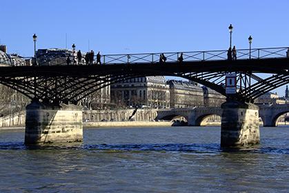 Le Pont des Arts le 11 janvier 2008.
