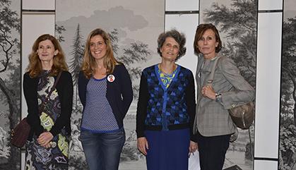 De gauche à droite : Françoise-Claire Prodhon,   Gaïdig Lemarié, Véronique de La Hougue, Monique Blanc.