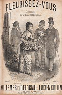 Dans les rues les petites fleuristes  vendent souvent des bouquets de fleurs des champs : violettes, marguerites, bleuets, bouton d'or...