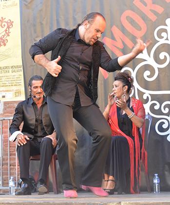 Danseur du Quadro Flamenco de Rivesaltes.