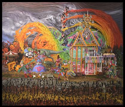 Peinture de l'Américain Ron English.