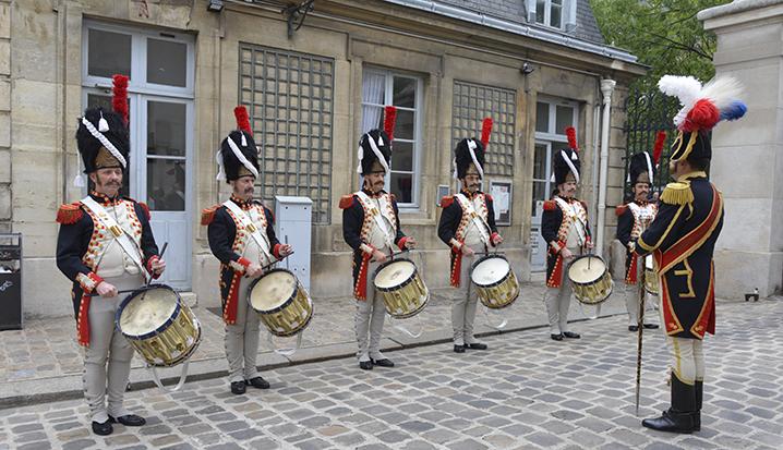 Les tambours de la Garde, lors de l'inauguration.