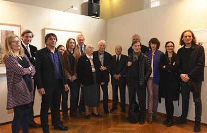 Les membres du jury les candidats et les deux lauréats (2014 et 2015).