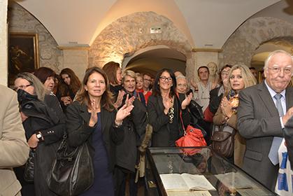 Lors du vernissage de l'exposition au Musée du Barreau, le 6 octobre 2015.