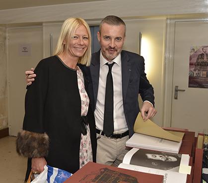 Clarisse Brely membre du conseil de l'Ordre des Avocats en compagnie de son confrère écrivain Emmanuel Pierrat.