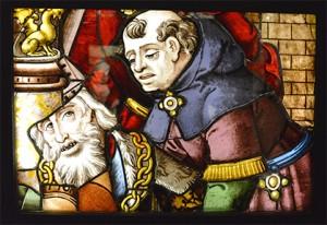 Un des morceaux de vitraux de Saint Gervais - Saint Protais vers 1540 qui n'a pas été remis en place et conservé à Carnavalet.