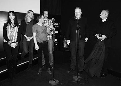 Le réalisateur était présent entouré de quelques uns de ces acteurs comme Maria de Medeiros et Jacques Nolot.
