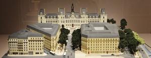Maquette de l'Hôtel de Ville avec l'avenue Victoria.