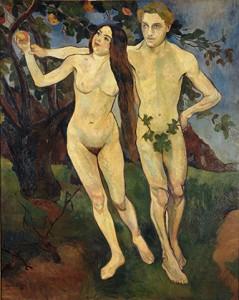 Suzanne VALADON, Adam et Eve, 1909, Huile sur toile, (Centre Pompidou – Musée national d'art moderne, © Centre Pompidou MNAM-CCI, Dist. RMN-GP/Jacqueline Hyde)