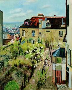 André Utter, jardin de la maison d'Utrillo (Association des amis du petit Palais, Genève © Petit Palais, Genève)