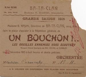 Billet de la saison 1915...