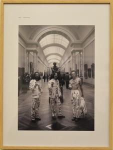 photo du Trio au Louvre.