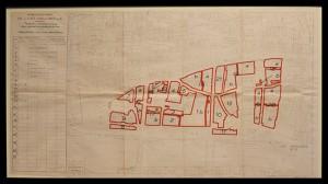 Plan des îlots insalubres. Une salle est consacrée à l'îlot 16. (Doc. musée Carnavalet)