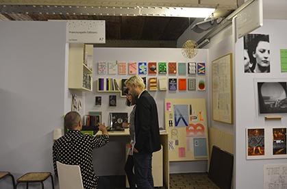 Le stand de Franciscopolis Editions, prix moyen des oeuvres exposées 200 euros.