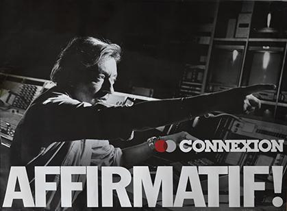 Affiche publicitaire 78x103 cm, 1987.