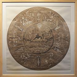 Bouclier de Judas Maccabée (1850) par Henry de Triqueti encre & pierre blanche sur papier