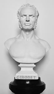 Buste de Girodet à découvrir dans l'exposition avec des objets personnels de l'artiste