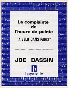 """""""En vélo à Paris, on dépasse les autos"""", chantait Jo dessin en 1972."""