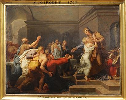 La toile à l'huile du Grand Prix de l'Académie remporté par Girodet en 1789.