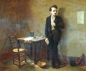Le journaliste Henri Rochefort à Mazas en 1871 portrait d'Armand Gautier, conservé au Musee d'Art et d'Histoire, Saint-Denis, France