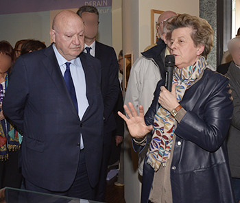 Le maire était présent pour suivre la présentation d'Agnès Barbier.