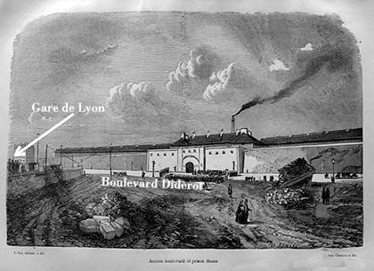 La prison est construite sur des terrains vagues du quartier des quinze- vingt achetés pour 937.000 francs. La prison est construite entre l'embarcadère ferroviaire de Lyon, sans cesse transformé, la place de la colonne de juillet et le bassin de l'Arsenal. Sa construction coûtera 4,5 millions de francs.