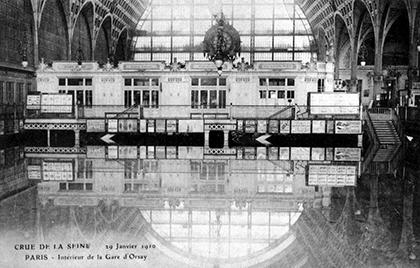 Le musée d'Orsay en 1910.
