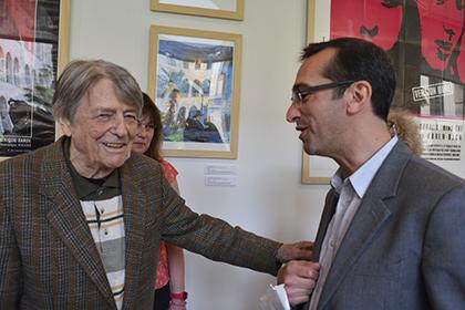 Jean-Pierre Mocky et le maire du 10e Rémi Féraud