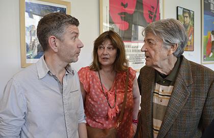 Fabien Houi, Patricia Barzyk, et Jean-Pierre Mocky