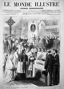 La pose de la 1ère pierre, article du Monde Illustré, 26 juin 1875