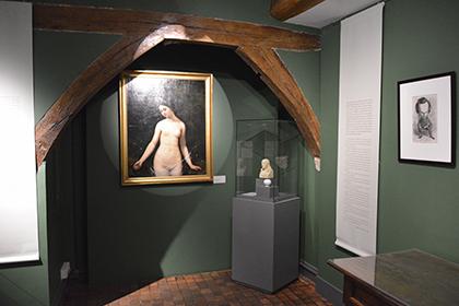 """Exposition à la Maison de Balzac """"Balzac et les artistes"""". Ici, évocation de son ami Théophile Gautier qui écrivait mais peignait également."""