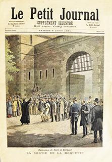 Le Petit Journal, 8 août 1891, la Une pour l'exécution de Doré et Berland le 27 juillet.
