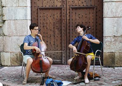 Intermède musical offert par des élèves de l'Académie
