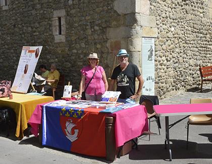 Le stand des Nautes de Paris, Marie-Christine et Dominique