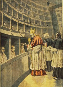 La chapelle, un jour de confirmation.
