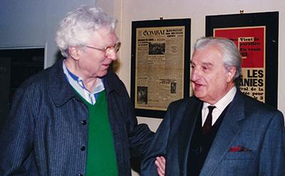 Pierre Faucheux l'architecte du livre qui a façonné pour Pauvert la collection Liberté en compagnie de Bernard Gheerbrant l'éditeur.
