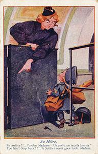 Carte postale humoristique de 1918