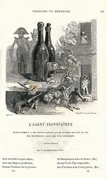 """""""L'Agent provocateur"""" dans le volume des """"chansons de P.-J. de Béranger, anciennes et posthumes"""" (1866)"""