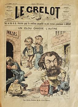 """Edouard Drumont, rédacteur de la """"libre Parole"""" qui prône """"la France aux Français"""" fera une peine de 3 mois pour diffamation du député Burdeau."""