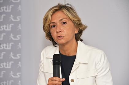 Valérie Pécresse, président de la région île de France et présidente du Stif