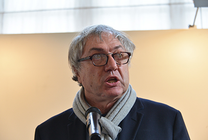 Le graveur Erik Desmazières, président de l'Académie des Beaux-Arts en 2016.