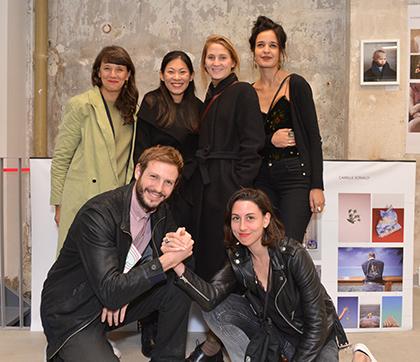 Mathias Zwick et Rebecca Topakian au premier rang, Marie Moroni, Zhen Shi, Kate Fichard et Poline Harbali préparent l'édition 2017