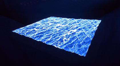 Open Sea, installation Hologramme