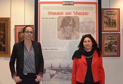 Aurélie Chabrier et Marie-Eve Thérenty co-commisaires et auteurs du livre qui accompagne et complète l'exposition.
