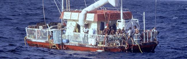 Le radeau Acali en 1973